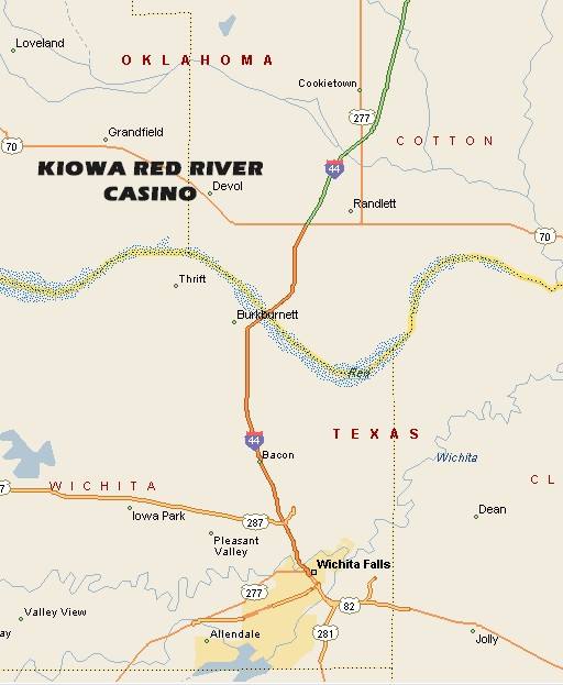 KIOWA RED RIVER CASINO MAP