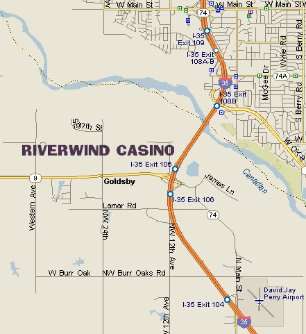 RIVERWIND CASINO MAP