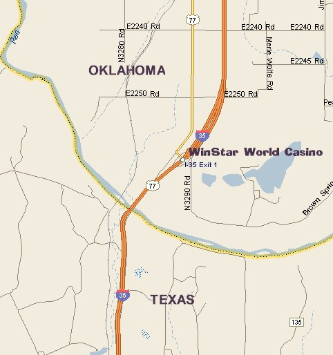Oklahoma Casinos Map WINSTAR WORLD CASINO MAP