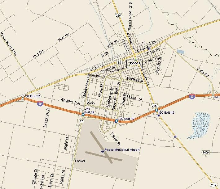 Map Pecos Texas