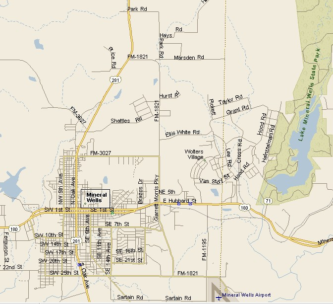 Map Of Mineral Wells Texas