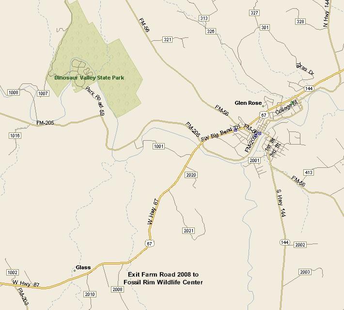 Glen Rose Texas Map SOUTH TEXAS PLAINS REGION: GLEN ROSE TEXAS MAP